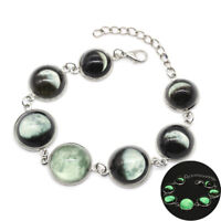Charm Eclipse Glass Cabochon Luminous Bracelets Creative Unisex Jewelry Gift