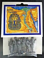 "Six 1½"" Pewter Ancient Egyptions by Westair Made in England NIP FREE SHIPPING!"
