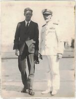 RARE Historic Photo of Charles Lindbergh with Naval Officer ca1927 San Diego CA