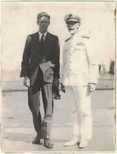 Original Historic Photo of Charles Lindbergh with Naval Officer ca1927 San Diego
