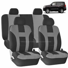 GRAY & BLACK DOUBLE STITCH SEAT COVERS 8PC SET for LEXUS LS 400 430