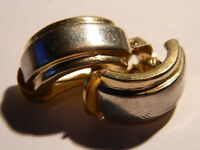 ***Bicolor Gold/Silber Farbene Ohrringe Antiker Modeschmuck***
