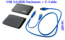 "USB 3.0 to SATA 2.5"" HDD Enclosure 5Gbps with Y cable"