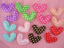 "80 Small Cute Heart Satin Polka Dots Whimsical 3/4"" Applique/trim/bow/padded L6"