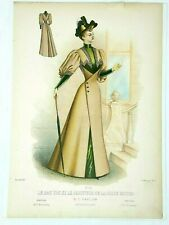 French Fashion Magazine 1893 Antique Advertising Print 10x15 19th c French Lady