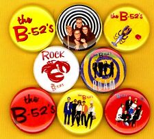 B52's set of 8 NEW 1 inch pins buttons badges rock lobster love shack new wave