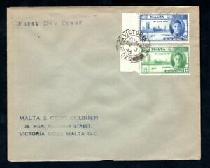 Malta - 1946 KGVI Victory Set First Day Cover