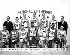 1961 CINCINNATI BEARCATS Ed Jucker Glossy 8x10 Photo NCAA CHAMPIONS Poster Print
