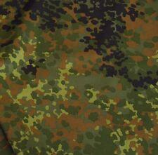 Bundeswehr Camouflage Baumwoll-Stoff zum Nähen als Meterware robuster Flecktarn