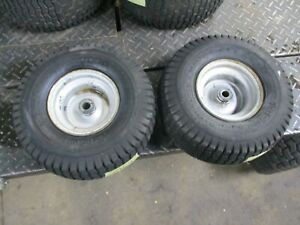 WHEEL HORSE 212-H    PAIR SET FRONT   WHEELS AND TIRES 15X6.00-6