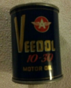 Vintage Amoco oil company piggy bank one qt can NOS Autos Gasoline Oil can Bank