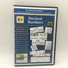 A+ Interactive Math Decimal Numbers Cd-Rom Grades 3-7 Free Ship New