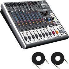 Behringer XENYX X1222USB - 16-Input Audio Mixer (With 2 free 1/4 to 1/4 Cables)