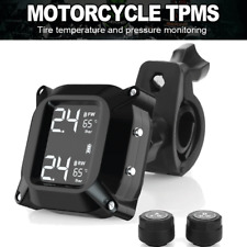 Motorcycle TPMS Tire Pressure Wireless Monitor System with 2pcs External Sensors