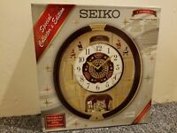 Seiko 24 Melodies in Motion Musical Wall Clock - Including 6 Christmas Melodies