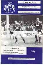1990/91 Glenavon v Linfield - Co Antrim Shieeld - 5th Mar - Vol 9 No 22