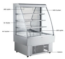 Open Refrigeration Display Case 40 Ins Refrigerator Merchandiser Showcase Cooler