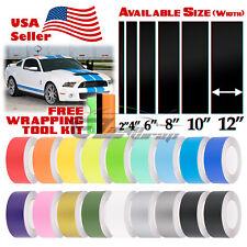 Matte Color Racing Stripes Vinyl Wrap Sticker For Ford Mustang Stripe 10FT /20FT
