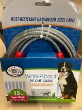15 ft Rust resistant cable dog tie out for under 200 lb. dogs by Four Paws (NEW)