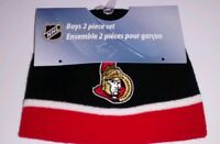 Ottawa senators baby beanie and mits 12-24m new with tags baby nhl