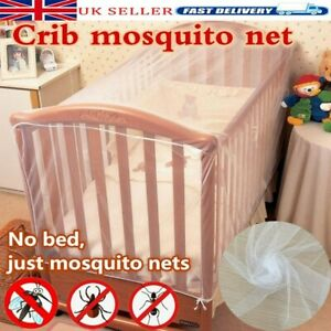 Baby Toddler Cot Net White Protection From Insects Cats Easy Access To Baby New