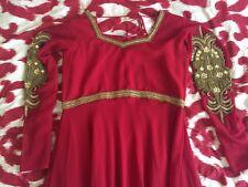 indian maxi dress gown wedding party bridesmaid 1 silver/1 golden abaya muslim