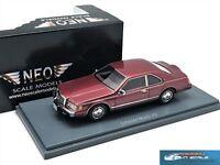 Lincoln Continental Mark VII Lsc 1984 Dark Red NEO45501 1:43