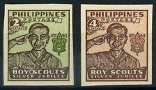 Filippine 1948 Mi. 490B-491B Nuovo ** 100% Organizzazione Scoute