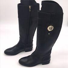 Tommy Hilfiger Black knee high boots vegan uk 5 Us 7.5 eu 38