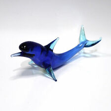 "Big blown glass figurine ""Dolphin"". Russian Murano. Handmade #42"