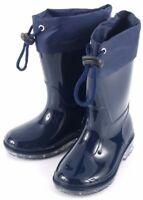 NEW KIDS BOYS GIRLS CHILDREN NAVY WELLINGTON BOOTS RAIN WATERPROOF WELLIES SHOES