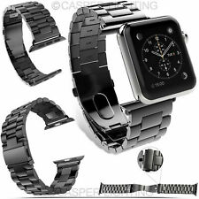 Stainless Steel Watch Band Strap Clasp for Apple Watch 42mm Color Silver Gold Uk