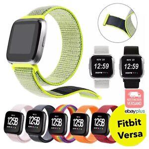 ✅ Für Fitbit Versa und Versa 2 Armband Nylon Loop Klettverschluss Sportband ✅