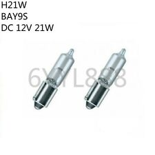 2Pcs H21W BAY9S 12V 21W 4300K Yellow Car Halogen Bulbs Automobile Bayonet Bulbs