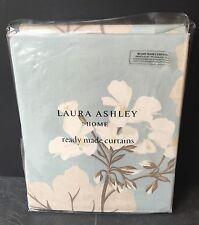 "Laura Ashley Curtains Millwood Duck Egg Blue 64"" X 54 / 162cm x 137 Floral"