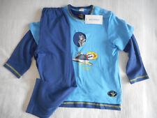 Schiesser 3-teiliger Schlafanzug Pyjama Gr. 104 Neu
