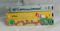 Dr. Seuss VHS Lot Grinch Night,The Butter Battle Book,The Grinch Stole Christmas