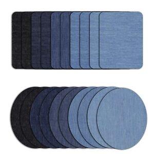 2/24Pc Big Iron On Denim Repair Patches Kit For Mending Embellishing DIY Denim
