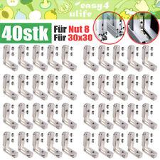 40x Innenwinkel Außenwinkel Aluprofil 30 Mm Nut 8 Profilverbinder Alu Profil M6