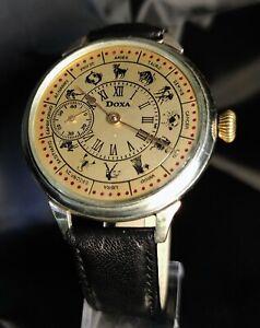 Doxa Zodiac Luxury Antique 1910's Vintage Wristwatch Men's Gift,