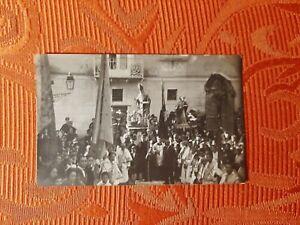 FOTO CARTOLINA CASERTA BELLISSIMA PROCESSIONE INIZI 900
