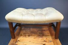 Chesterfield Style Footstool Pouffe Foot Stool Retro Vintage For Restoration
