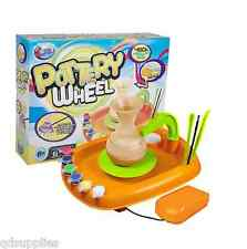 Pottery Wheel & 450g Clay Tools & Paint Childrens Potters Craft Toy Gift 16-0055