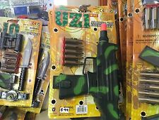 ARMY MILITARY PLASTIC MINI UZI GUN TOY PLAYSET
