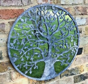 Tree of Life Metal Garden Mirror Ornament Gardeners Gift Present Quirky Zinc