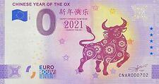BILLET 0  EURO CHINESE YEAR OF THE OX ANNIVERSARY  2021 NUMERO DIVERS