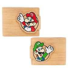 UFFICIALE Nintendo-Mario & Luigi-woodgrian Portafoglio Bifold Snap