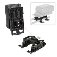 CAMVATE QR V-Lock Mounting Battery Plate w/ 15mm Dual Rod Clamp for DSLR cameras
