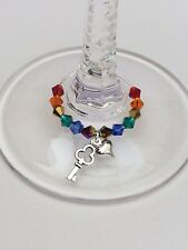 20 Rainbow Theme Wine Glass Charms. Wedding, Favours, Party