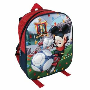 Disney Mickey Mouse Backpack School Bag 3D Football